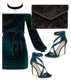 """Green Velvet"" by solvz on Polyvore featuring Imagine by Vince Camuto and Rebecca Minkoff"