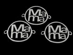 CMNIK -01 Conector Especial en plateado (nikelado), mama, ideal para pulsera, medida 4cm, peso 5 gramos,  precio x pieza $7 pesos, precio medio mayoreo (6 piezas)$6, precio mayoreo (12 piezas)$5.5, precio VIP(24 piezas) $5 pesos