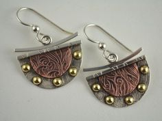 Hey, I found this really awesome Etsy listing at https://www.etsy.com/uk/listing/153857765/dangle-metalsmith-earrings-mixed-metal
