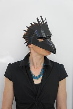 Bird or Raven Mask Make your own Bird Mask by Wintercroft on Etsy Make Your Own, Make It Yourself, How To Make, Raven Mask, Cardboard Mask, Bird Masks, Half Mask, Mask Template, Skull Mask