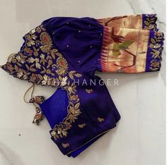 Pattu Saree Blouse Designs, Blouse Designs Silk, Half Saree, Work Blouse, Embroidered Blouse, Indian Wear, Indian Outfits, Collars, Clothes For Women