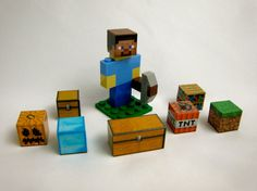 Lego Minecraft Steve Character with Pickaxe & Block by BricksCo, $24.95
