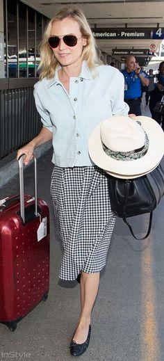 Ünlülerin Havaalanı Stilleri Diane Kruger