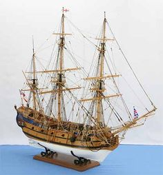 Ship model English East Indiaman PRINCE OF WALES of 1740