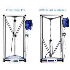 2017 LCD Diy BIQU 3D Printer Kossel Plus Metal printer Auto-Level Reprap Prusa Quiet Delta 3D Printer with Large Printing Size
