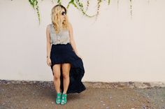 Mr. Kate | DIY hi-low skirt