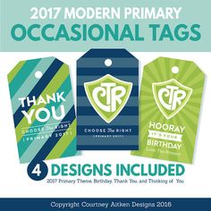 2017 LDS Primary Theme Tags  Choose the by CourtneyAitkenDesign