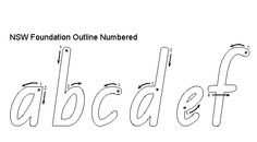 School fonts and handwriting fonts for NSW schools and teachers