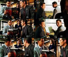 Beckett: Aren't you guys supposed to be running background checks?  Esposito: We are.  Ryan: On the bride. All day yesterday I kept feeling like I'd heard the name Kyra Blaine before and then it hits me, the dedication of Castle's second book, A Rose for Everafter.  Esposito: [reading] For Kyra Blaine, you make the stars shine.  Beckett: When I'm not here do you guys braid each other's hair and debate who's the coolest Jonas brother?  Esposito: No, but  it's totally Nick.  Ryan: Absolutely…