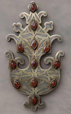 Unusual shaped Turkoman pendant