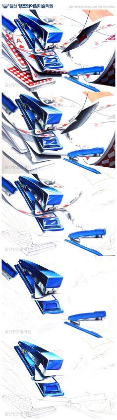 일산창조의아침 기초디자인 스테이플러, 트럼프 카드 일산창아 기디 단계작 일러스트 극사실