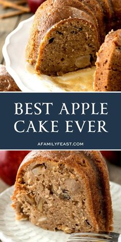 This apple cake is moist and delicious with the perfect amount of sweetness and . This apple cake is moist and delicious with the perfect amount of sweetness and spice – plus large chunks of apple a Apple Deserts, Apple Dessert Recipes, Köstliche Desserts, Easy Cake Recipes, Easter Recipes, Delicious Desserts, Recipes Dinner, Passover Apple Cake Recipe, Apple Walnut Cake Recipe