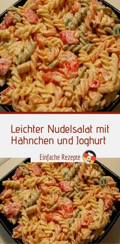 Light pasta salad with chicken and yoghurt Salad Recipes Healthy Lunch, Easy Healthy Recipes, Dinner Healthy, Light Pasta Salads, Chicken Pasta Salad Recipes, Taco Chicken, Chicken Salads, Easy Cookie Recipes, Food For A Crowd