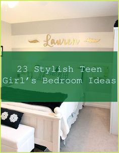 Decorating a bed room for a teenager-- or with their help-- can trigger a lot of tension. Not only do you wish to guide them to embellish a room ... #... Bedroom Bed, Dream Bedroom, Bed Room, Girls Bedroom, Teen Bedding Sets, Teen Girl Bedding, Striped Curtains, Teenage Girl Bedrooms, Table Accessories