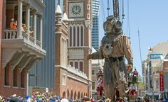 The Giants bid adieu to Perth - The West Australian Perth Western Australia, Down The River, Statue Of Liberty, Places To See, Street, City, Gallery, Walking, Statue Of Liberty Facts