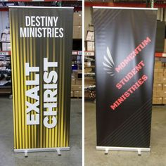 Customize one of our free designs for your ministry needs! Portable Display, Banner Stands, Church Banners, Youth Ministry, Design Development, Free Design, Budgeting, Product Launch, Graphic Design