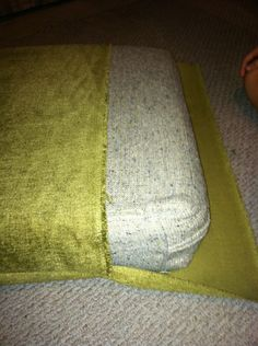Couch cushion covers on a budget