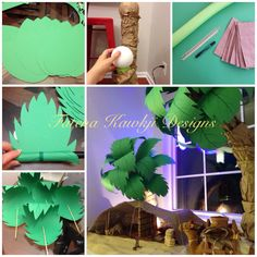 Here is the photo tutorial of the palm trees I made for the recent Eid decorations that you all admired :)  I used hot glue throughout the process because it is fast drying and gives you an instant results, I highly recommended it if you are doing something similar :)
