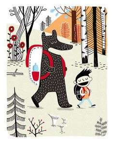 Camp d'été avec ours
