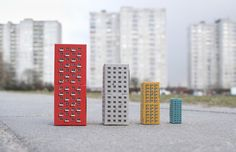 BLOKOSHKA - Modernist Architectural Matryoshka on Packaging of the World - Creative Package Design Gallery
