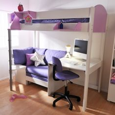 loft bed with couch and desk google search ideas pinterest rh pinterest com bunk bed with desk and couch underneath bunk bed with desk and couch underneath