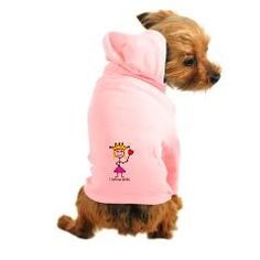 Dog Hoodie  Deck your dog in our adorable custom Dog Hoodie.This pet garment features 100% cotton for comfort and a kangaroo pouch to carry along a treat for Fido.Our dog hoodie is perfect for small to medium sized dogs who like to dress to impress. Aye Chihuahua!