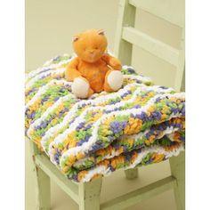 "Ripple Baby Blanket (6) 100  gr balls bernat baby blanket yarn, 36"" size 11 circular needle"