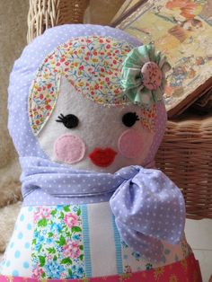 Babushka Doll Decorative Pillow on Etsy, $45.35