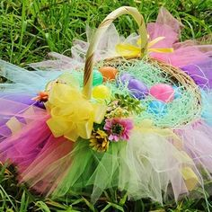 DIY Colorful Easter Basket