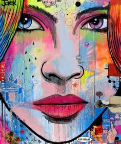"Saatchi Art Artist Loui Jover; Painting, ""pop dreams...........  (SOLD)"" #art"