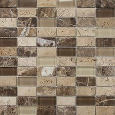 "mohawk stone radiance stone and glass mosaic wall tile 5/8"" random"