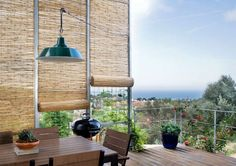 brise vue de balcon en bambou