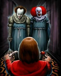 The Shining / Pennywise Halloween Film, Halloween Horror, Penny Wise Clown, Clown Pennywise, Pennywise The Dancing Clown, Scary Movies, Horror Movies, Es Stephen King, Stephen Kings