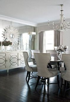 Shades of Grey dining room - modern - dining room - other metro Luxurious…