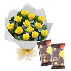 Tissue Paper Wrapped Roses with Bournville Chocolate
