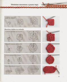 Photo from album Iniciacion al ganchillo libro 01 on Yandex.Disk how to crochet differen Photo from album Iniciacion al ganchillo libro 01 on Yandex.Disk how to crochet different figures Diy Crochet Projects, Crochet Diy, Crochet Motifs, Crochet Amigurumi, Crochet Books, Crochet Diagram, Crochet Stitches Patterns, Crochet Chart, Crochet Basics