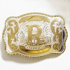 "NEW INITIAL "" R "" RODEO BIG COWBOY WESTERN BELT BUCKLE"