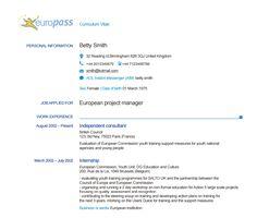 Passeport de compétences Europass : CV, test niveau d'anglais... #anglais #CV #recrutement