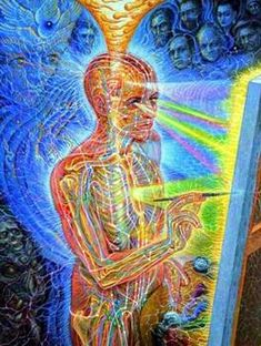 Images For > Psychedelic Art Alex Grey Psychedelic Art, Alex Grey Paintings, Art Gris, Alex Gray Art, Art Visionnaire, Les Chakras, Visionary Art, Sacred Art, Canvas Art