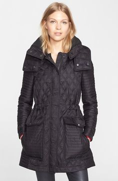 Burberry Brit 'Bosdale' Quilted Coat with Detachable Hood available at #Nordstrom ITEM #1099577.