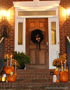 Make pumpkins into candle holders for your battery operated taper and pillar candles. So easy, but such a creative Halloween porch idea! Easy Crafts To Sell, Quick And Easy Crafts, Christmas Vinyl, Christmas Paper Crafts, Mason Jar Crafts, Mason Jar Diy, Halloween Porch, Halloween 2015, Diy Outdoor Weddings