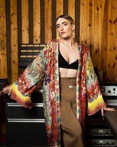 Boho Inspiration, Fringes, Rainbow Colors, Kimono Top, Glow, Embroidery, Tops, Women, Fashion