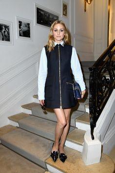 Olivia Palermo à la semaine de la Haute Couture.