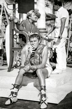 my-retro-vintage — Richard Burton taking a cigarette break on the set...