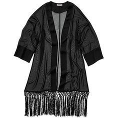 Rose Fringe Kimono   Jackets & Cardigans   Outerwear/Layers ...