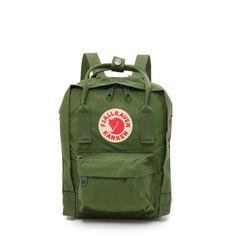 Fjallraven Kanken Mini Backpack ($65) ❤ liked on Polyvore featuring bags, backpacks, backpack, green, leaf green, green bags, zip bags, green backpack, mini rucksack and nylon zipper bag