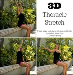 Another good thing for anyone - not just runners!  3D Thoracic Stretch to reduce impact of all day sitting