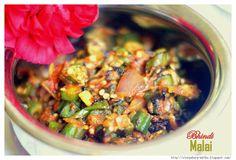 Bhindi Malai - Seared okra in a creamy spicy tomato sauce