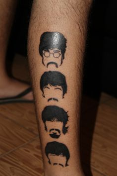My first tattoo of The Beatles