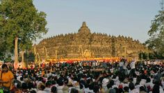Every year on the full moon is full in May (or June in leap years), Buddhists in Indonesia commemorate Vesak at Borobudur. Vesak is celebrated as the day of birth, death and the time when Siddhartha Gautama obtain the highest wisdom to become the Buddha Shakyamuni. The third event is called Vesak Trisuci. Waisak ceremony centered at three Buddhist temples by walking from Mendut to Pawon and ending at Borobudur.